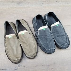 Sanuk Men's Vagabond Slip-on Shoe Bundle Size 12
